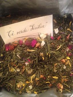 tè sfuso verde in foglie