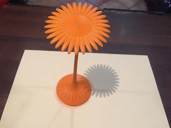 Filtro per tè in silicone Margherita arancione