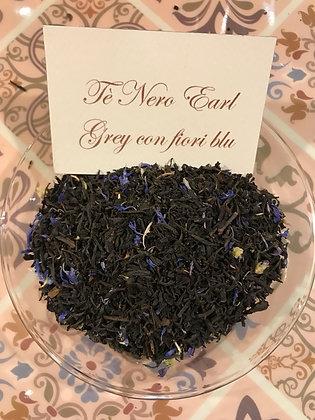 Tè Nero Earl Grey con fiori blu