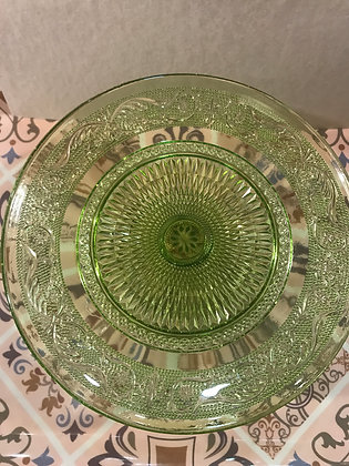 Alzatine in vetro trasparente colorate -grande