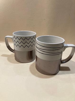 Mug con bordo bronzo