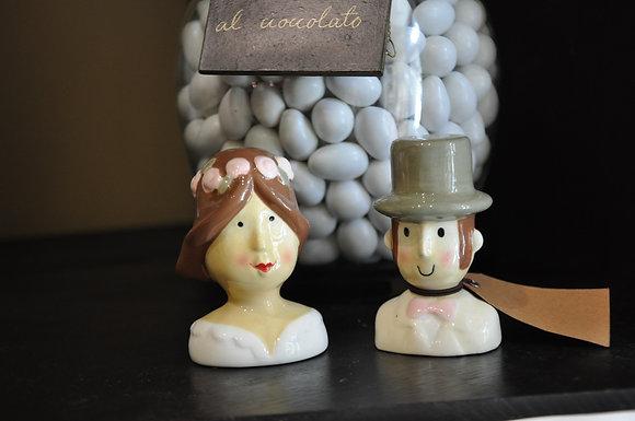 Coppia di sale e pepe sposi