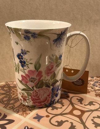Tazza in porcellana con fiori