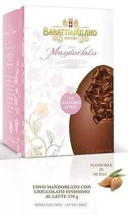 Uovo di cioccolato al latte mandorlato Baratti e Milano
