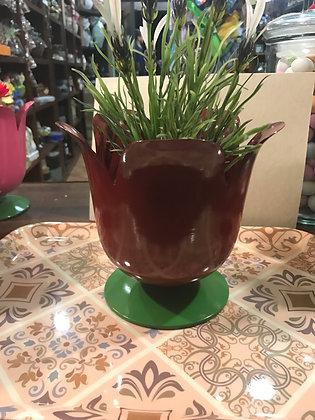 Porta piante bordeaux