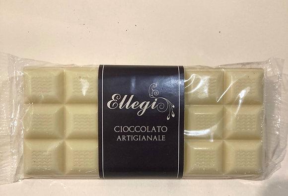Tavoletta di cioccolato bianco artigianale