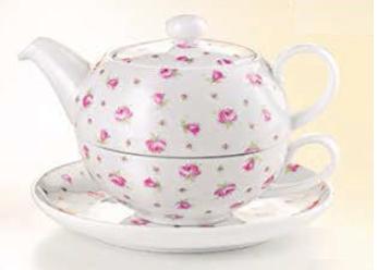 Teiera spezzata in porcellana con fiorellini
