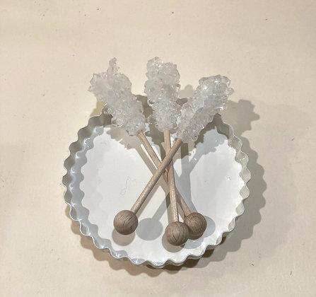 Candystick da tè in zucchero biancoe di canna