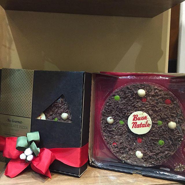 Pizza di cioccolato Buon Natale