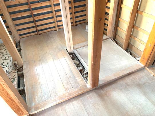 N様邸 2階旧洗面室解体