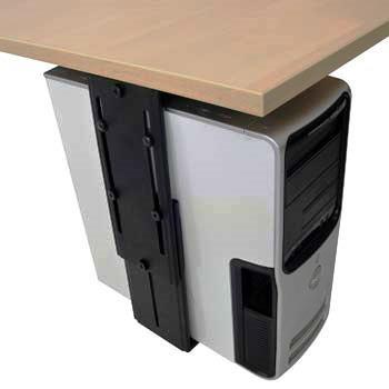מתקן נשיאה למחשב נייח התלוי על שולחן עבודה