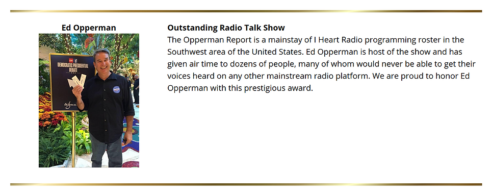 Award Wining Radio The Opperman Report.P
