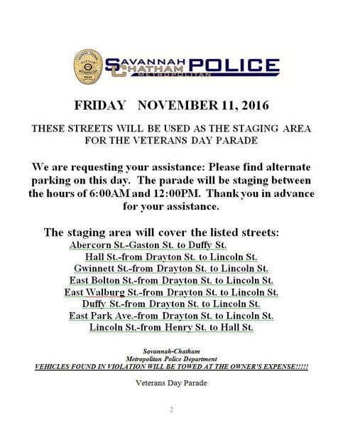 Road Closures - Friday, Nov  11