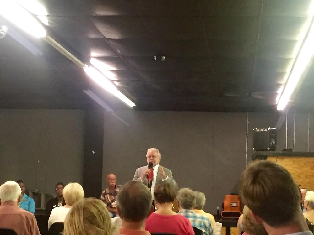 Bill Durrence speaking to Victorian Neighborhood Association