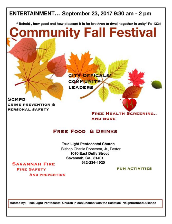 Community Fall Festival with Eastside Neighborhood Alliance