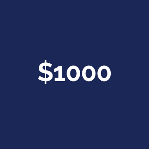 $1000 Campaign Contribution