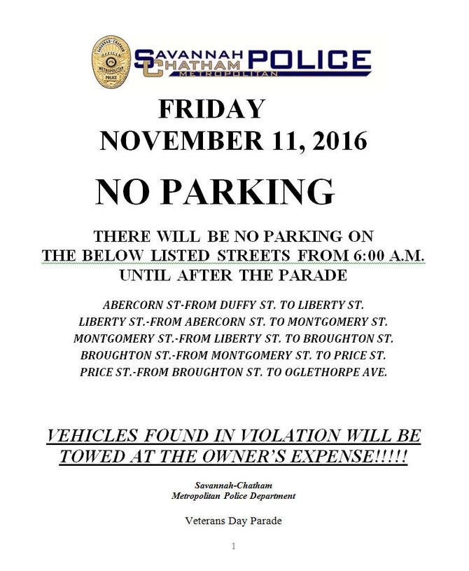 Road Closures - Friday, Nov. 11