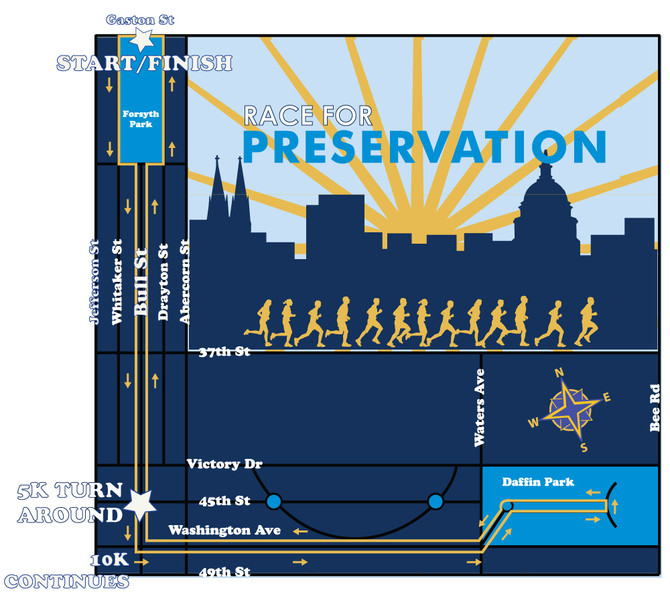 Race for Preservation to impact downtown, Thomas Square