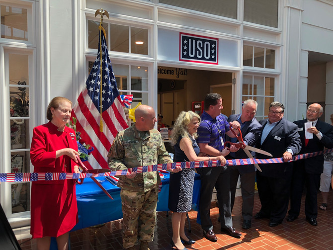 USO Ribbon Cutting Inspires Memories, Thankfulness