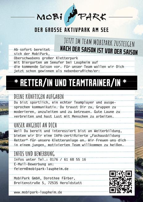 MOP_Stellenanzeige_MA_Retter_Teamtrainer