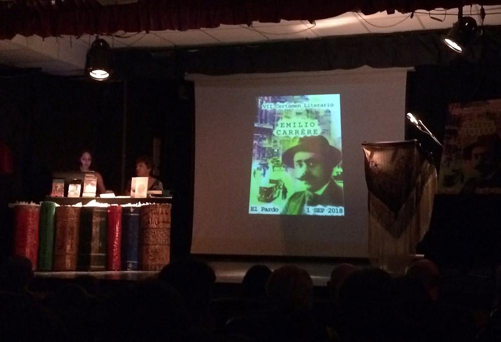 El acto de entrega de premios del Certamen Literario Emilio Carrère