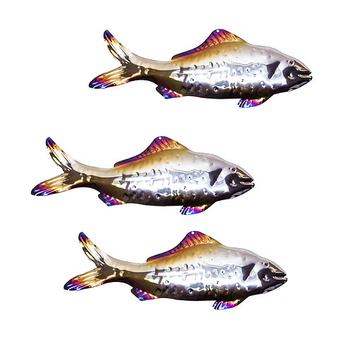 Shoal of 3 Silver Predator Fish