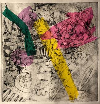 Sukru Ma collagraph pink