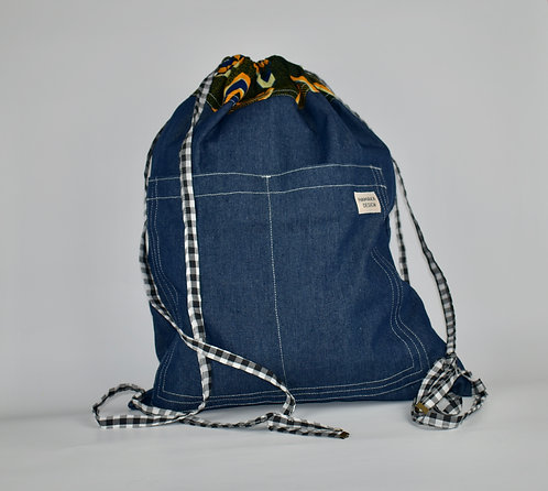 Hamaka Back Pack Blue denim
