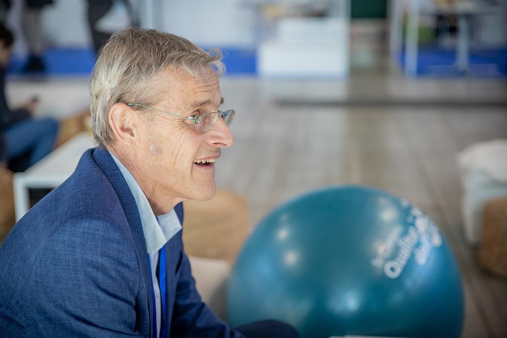 El Dr. Jordi Sunyer durant l'entrevista realitzada al 1r Congrés sobre la Qualitat de l'Aire