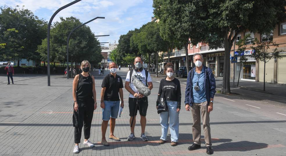 imatge de grup Soundwalk a cegues urbana