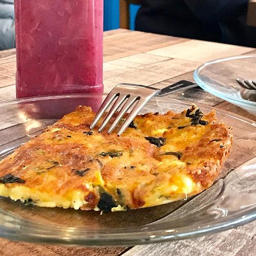 Flourless spinach & cheese quiche (a tray)