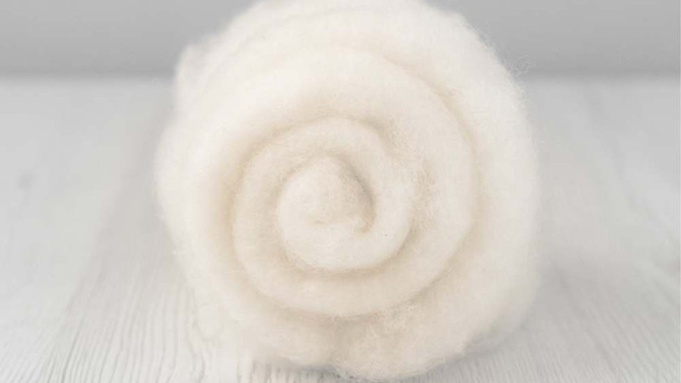 DHG Maori carded wool - Natural White