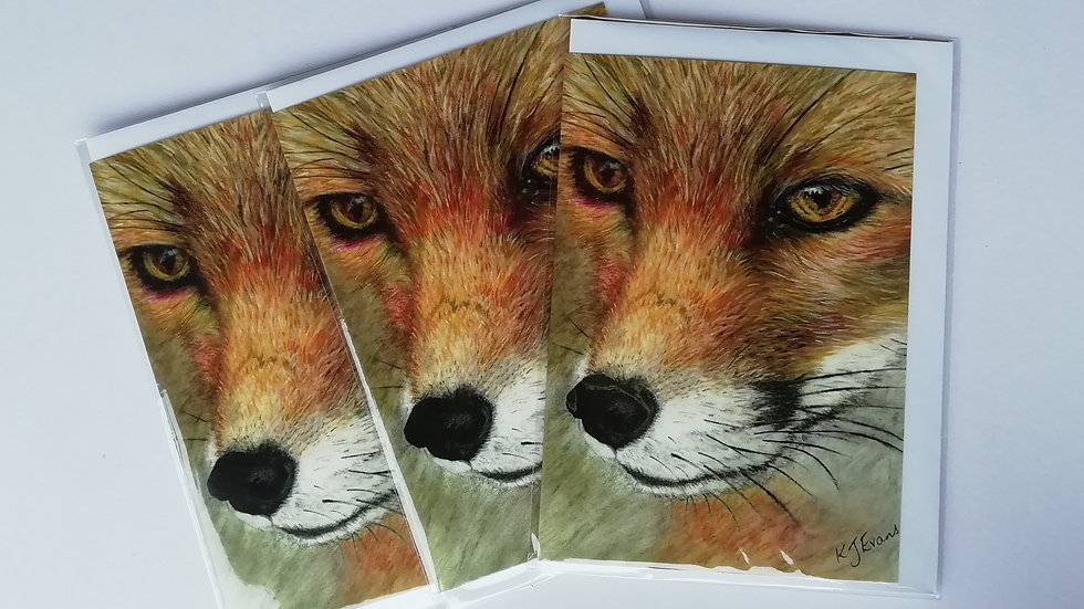 Fox notelet card - pack of 5