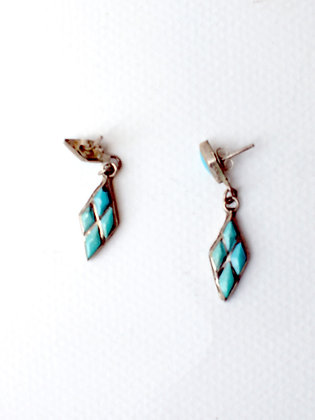 SILVER & TURQOISE EARRINGS