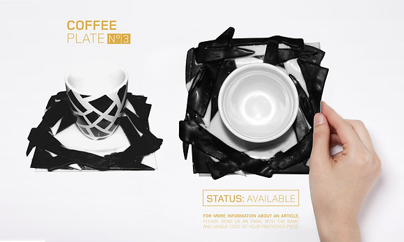 GLASS DESIGN COFFEE PLATES