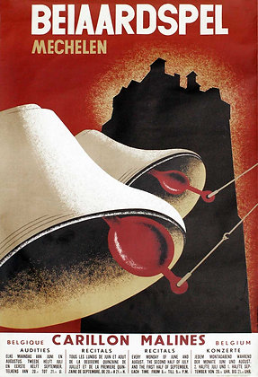 BEIAARDSPEL MECHELEN - Litho 1957
