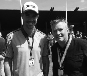 Johnny catching up with former England batsman Kevin Pietersen