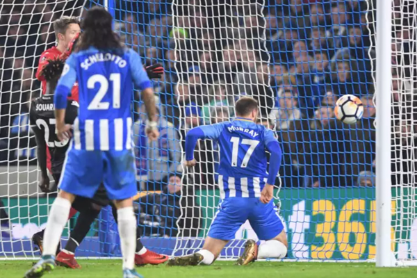 Glenn Murray scores for Brighton and Hove Albion