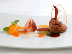 Brittany blue lobster tail and veal swee