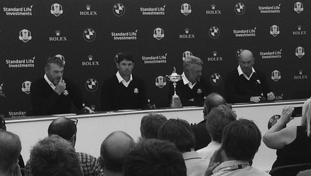 Johnny attends the Ryder Cup press conference