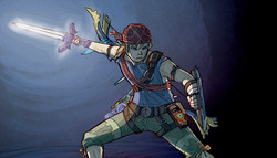 Link with the Master Sword