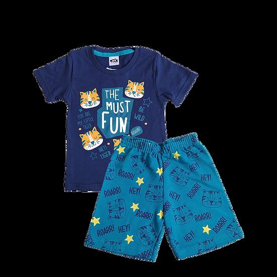 Conjunto Masculino Cat Azul