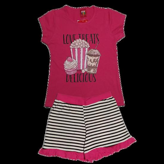Conjunto Feminino Pipoca-  Pink