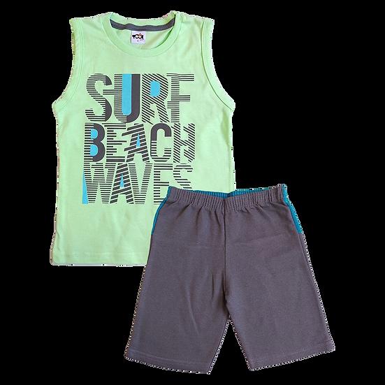 Conjunto Masculino Surf Verde