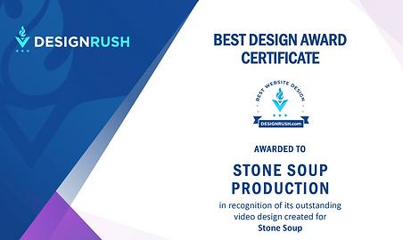 Design Rush Video Award Stone Soup Production Company