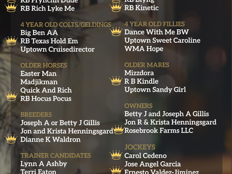 Rosebrook Farm Proudly Announces its 2019 Darley Award Nominations in Every Category 👑