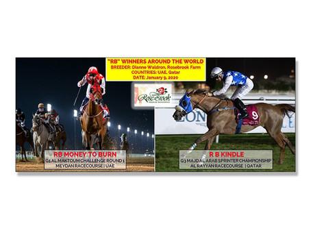 RB-Bred Horses are Winning Big Internationally Already in 2020