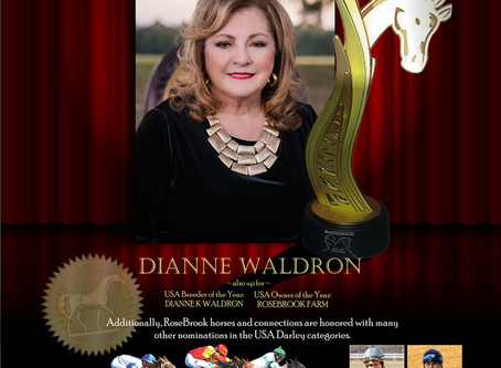 Dianne Waldron Honored with Lifetime Achievement Award Nomination at 2018 Darley Awards