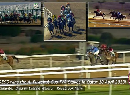 RICH MISTRESS wins the Al Fuweirat Cup-P/A Stakes in Qatar!
