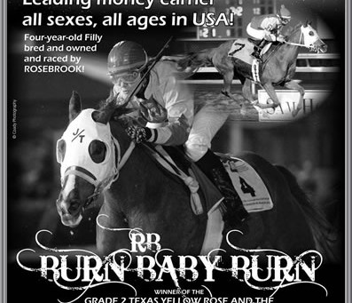 Burning Up The Track in 2014 - RB BURN BABY BURN